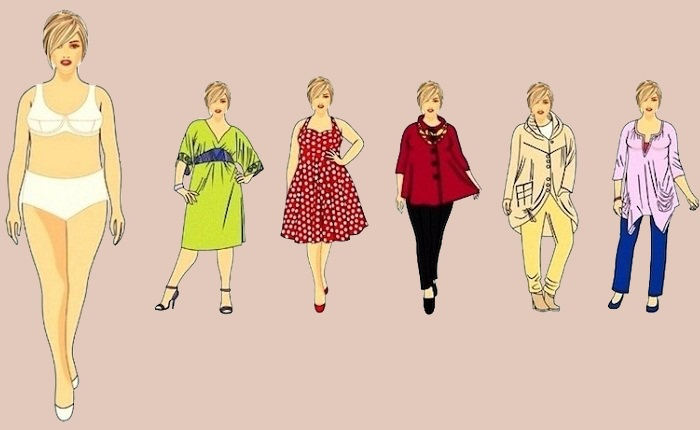 Proporciones en la ropa para figura «Manzana»