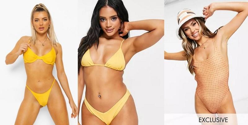 Bikinis y bañadores en colores de temporada 2021