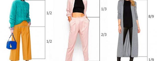 Proporciones en la ropa