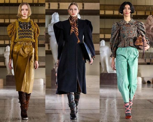 acento en los hombros en las colecciones de moda
