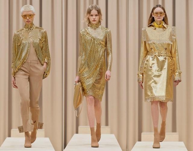 Brillo metálico en las colecciones de moda