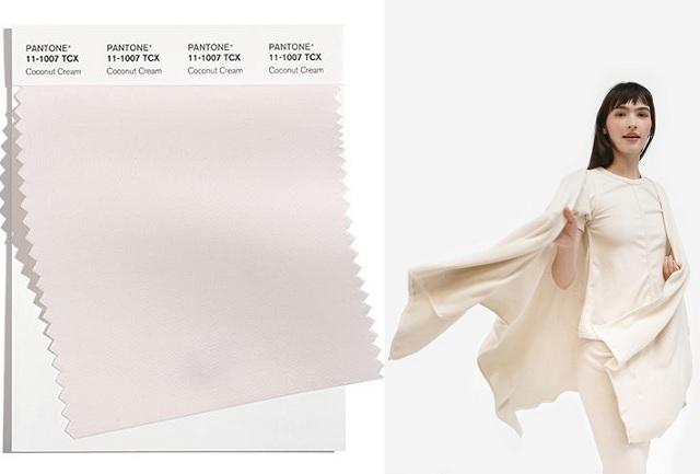 Color Coconut Cream pantone 2022