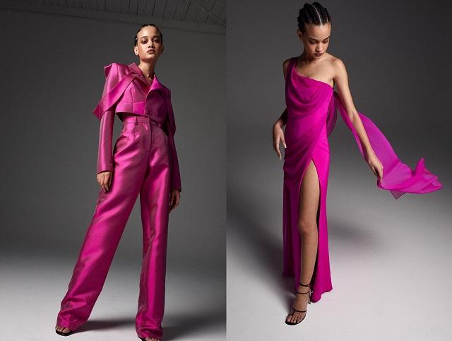 Color fucsia en las colecciones de moda 2022