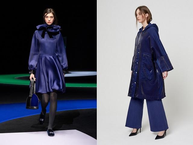 Color azul oscuro en las colecciones otoño-invierno 2021-2022