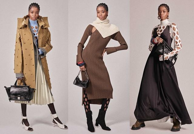 Aberturas y cortes en las colecciones de moda