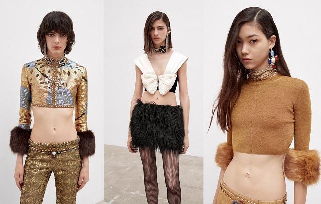 Prendas acortadas en las colecciones de moda