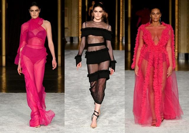 Transparencias en las colecciones de moda